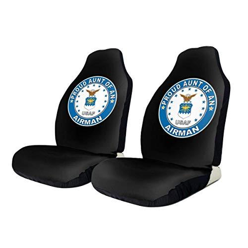 fingww Front Seat Cover Orgogliosa Zia di Un Aviatore Air Force Coprisedili per Auto Coprisedili per Auto Universale SUV Coprisedili per Camion Set Colorato di 2 Veicolo Bellissimo