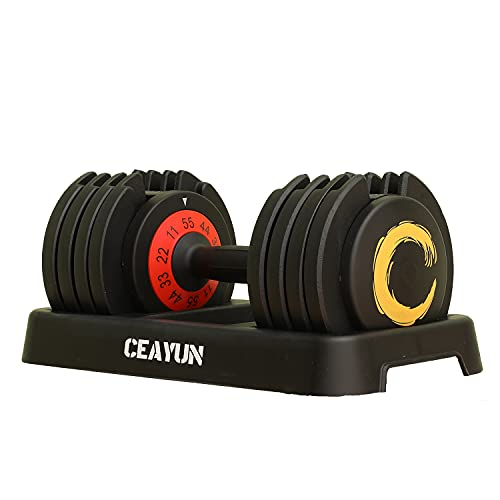 CEAYUN Adjustable Dip Station, Multi-Functional Dip Stand Heavy Duty, Portable Functional Fitness Bar with Safety Connector, Weight Strength Training Bar for Home Exercise