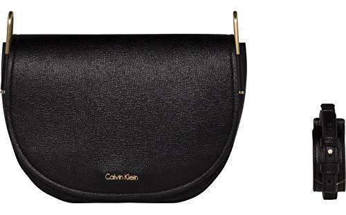 Calvin Klein Arch Large Saddle Bag Black