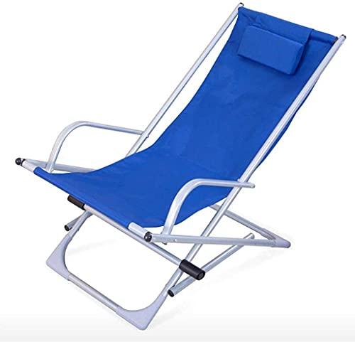 Tumbona de playa, Sillas de camping cómodas y estables Tumbonas de jardín Silla plegable Jardín Plegable Tumbonal, silla mecedora reclinable playa balcón interior al aire libre Almuerzo Sillón (105 ×