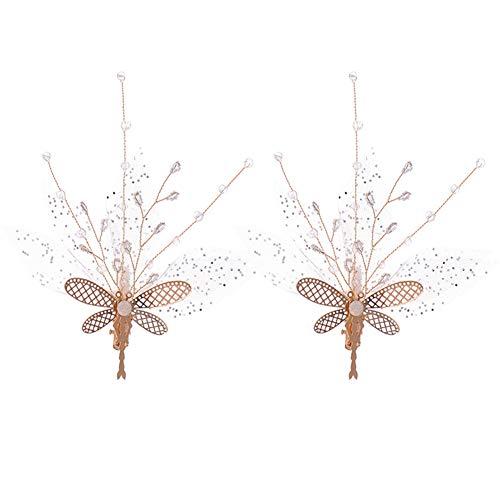 Jezus Liefde U Bruids Haarspeld Crystal Vlinder Diamant Gaas Haarspeld Hoofdtooi Bruidsjurk Clip wit 1 paar