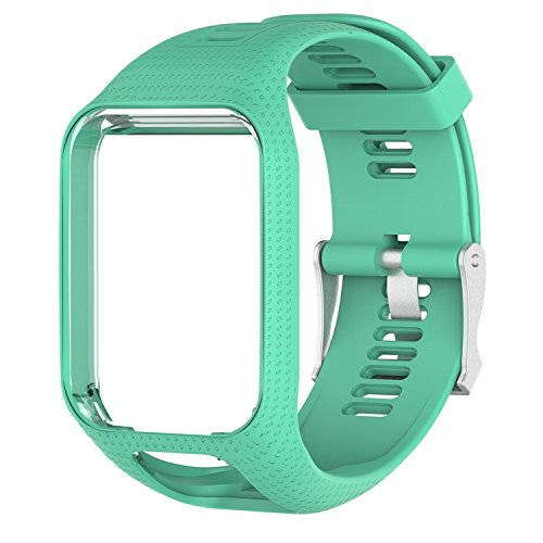 Keweni - Correas de silicona para reloj Tom Tom Runner 3/Spark, Azul verdoso