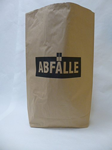10 St. Papier-Bioabfallsäcke 120l Format 70x95x22 cm Motiv: