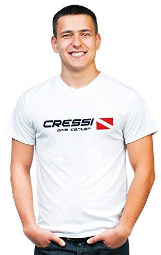 Cressi Dive Center Camiseta, Hombre, Blanco, S