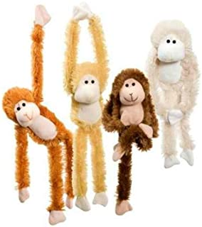 Best Fuzzy Friends 1 Each Burnt Orange, Blonde, Cream and Dark Brown Fuzzy Friends Plush Monkey with Velcro Hands Furry Stuffed Animal, Set of 4 Reviews