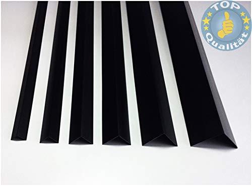 Kunstoffwinkel Schwarz (107), 1m, 50 x 50mm, Hart-PVC Winkelprofile Kunststoffleiste Profil Eckschutzleiste Abdeckleiste