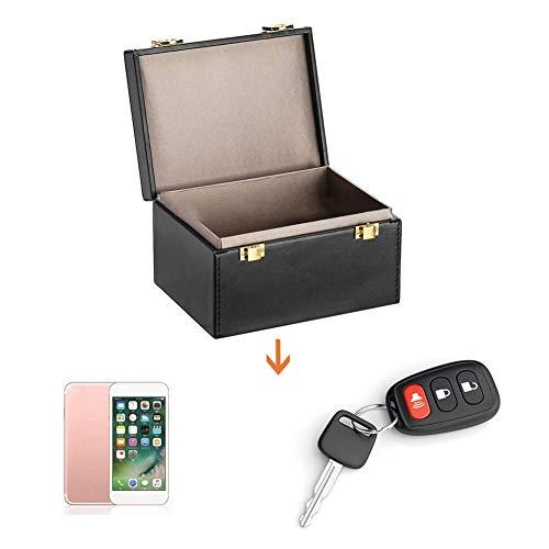 Caja de almacenamiento de llaves de coche antirrobo, caja de bloqueo de señal para tarjetas de coche FOB de teléfonos, diseño de doble candado de gran capacidad