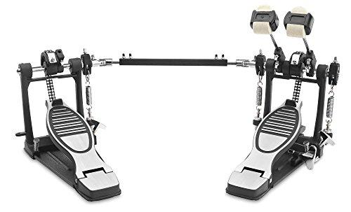 XDrum Fußmaschine Pro, Doppel (2 Pedale, Doppelkettenzug, 4 Side Beater, zusätzliche Beateraufnahme links (ideal auch für Drumsets mit 2 Base Drums))