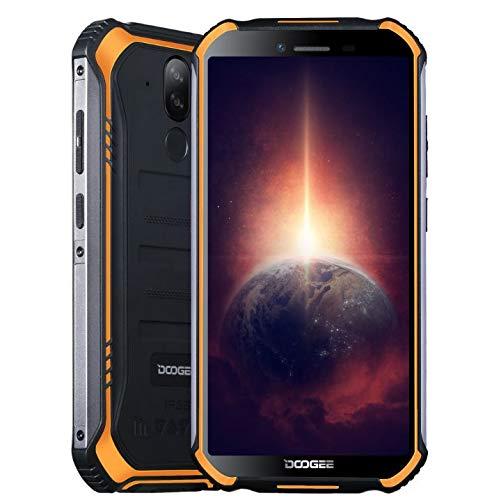 Telefono Rugged DOOGEE S40 PRO 【4 GB RAM 64 GB ROM】,IP68 Smartphone Android 10 Cellulare Robusto,Helio A25 Octa Core, Schermo Gorilla Glass 5,45'',13MP+2MP+5MP, DUAL SIM, Impronta Digitale NFC Arancia