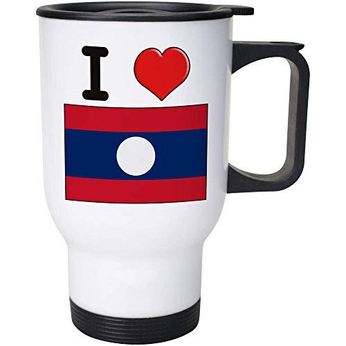 Stamp Press 400ml 'I Love Laos' Wiederverwendbarer Kaffee / Reise-Becher (MG00001085)