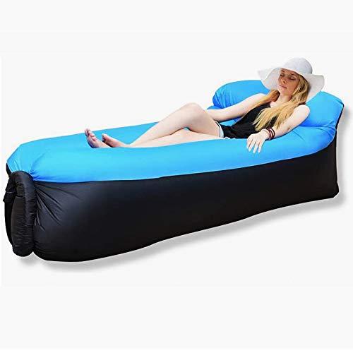 Aufblasbares Sofa, Wasserdichtes Luft Sofa Couch, Luftsofa Luftsack Luft Sofa mit Portable Paket, Lazy Lounger Aufblasbares Sofa Air Bett für Reisen,Garten, Camping, Wandern, Pool und Beach Parties