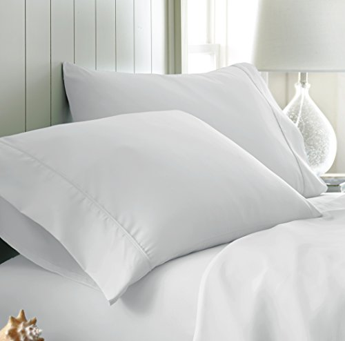 ienjoy Home 2Piezas Home Collection Premium Funda de Almohada de Doble Cepillado de Lujo Set, Blanco, Estándar, 1
