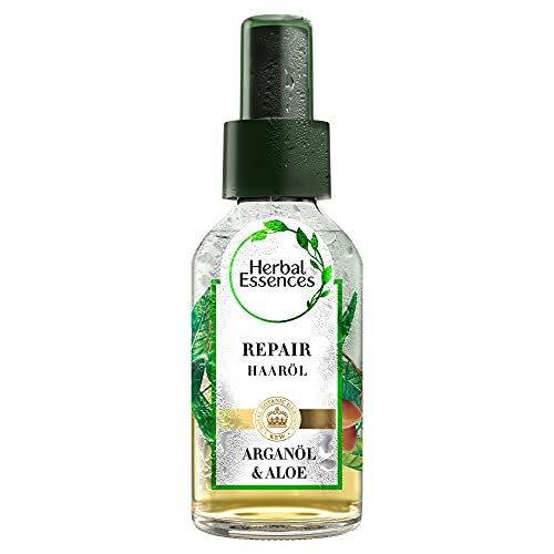 Herbal Essences PURE:renew Repair Haaröl, Mit Arganöl Und Aloe Vera, Haarpflege Arganöl, Haarpflege Glanz, Haarpflege Trockenes Haar, Argan Öl, Aloe Vera Haare, Ohne Silikon,...
