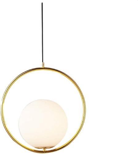 Suspension Luminaire,E27 Pendentif En Verre De La Mode Moderne Suspension Luminaire Fer LED Minimaliste Nordique Postmoderne Luminaire Lampe Salle à hommeger et chambre (Without lumière source)