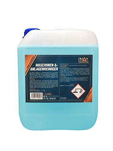 INOX® MS Maschinen- und Anlagenreiniger Konzentrat, effektives Reinigungsmittel zum Entfernen von Öl, Fett und Ruß - 5 Liter