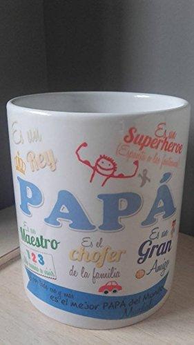 Detalles Party baby Taza Papá (diseño1) Regalo día del Padre
