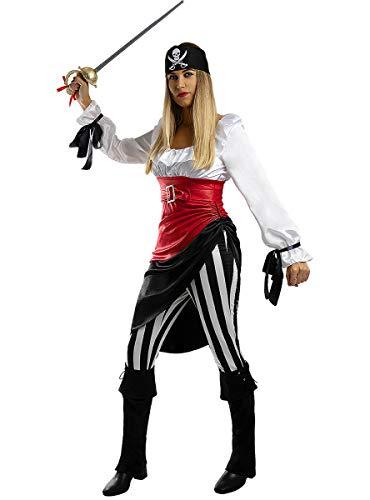 Funidelia | Disfraz de Pirata aventurera para Mujer Talla XL Corsario, Bucanero - Multicolor