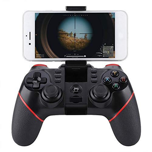 Lazmin Mobile Gaming Joystick, kabelloser Gamepad-Gaming-Controller für Android/iOS-Smartphones mit Handy-Videospielhalterung