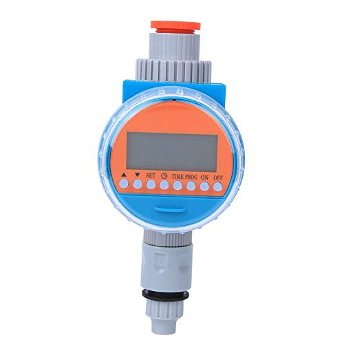 xuuyuu 散水タイマー 自動散水タイマー LCDディスプレイ 電池式&ソーラー充電 ドリップ灌漑 ウォータータイマーコントローラー 水やり 芝生・鉢植え・畑用