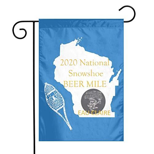 Schneeschuh National Garden Flags Home Yard Patio Rasen Outdoor Dekorative 12X18 Zoll