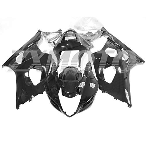 ZXMOTO Motorcycle bodywork Fairing Kit for 2003 2004 Suzuki GSXR 1000 Gloss Black - (Pieces/kit: 9)