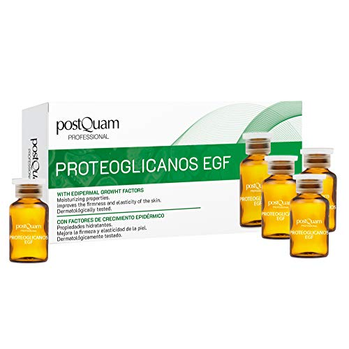 PostQuam - Ampollas Faciales | Ampollas Proteoglicanos con Factores de Crecimiento Epidérmico - Antiedad y Reafirmante Facial - 10 ampollas