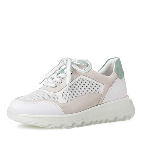 MARCO TOZZI by Guido Maria Kretschmer 2-2-83702-26 Leder Sneaker, Zapatillas Mujer, White Sage, 36 EU