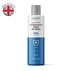 ✔ 100% Official Medical & clinical Grade Antibacterial Hand Sanitiser Gel ✔ 70% Alcohol Gel - KILLS 99.99% of All know Bacteria & Germs ✔ 280ml Size & Dermatogically Aprroved - 100% Organic & Vegan with Denatured Alcohol ✔ Prevents The Spread of Dise...
