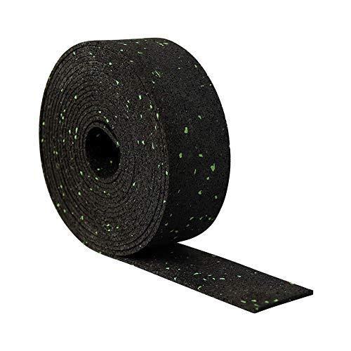 Chalkalon 1000 mm x 50 mm x 10 mm Terrassenpad Gummigranulat, Schalldämmung und Geräuschreduzierung, Nicht leicht zu verformen, rutschfest