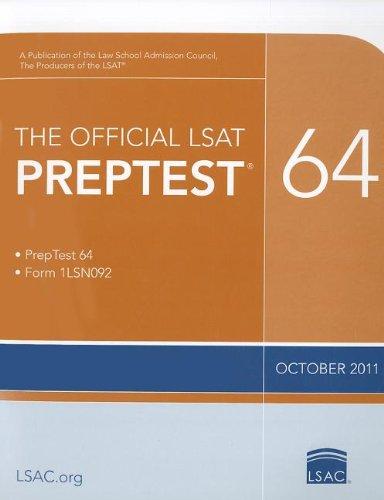 The Official LSAT Preptest 64: Oct. 2011 LSAT