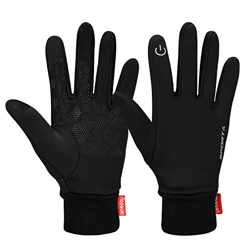 Cevapro Touch Screen Gloves, Winter Warm Gloves Cycling Gloves Lightweight Running Gloves for Hiking Driving Climbing - Women & Men(Black, M)