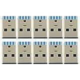 Partstock 10pcs USB 3.0 Male Port Connector Solder Jacks USB Repair Replacement Adapter Socket Connectors