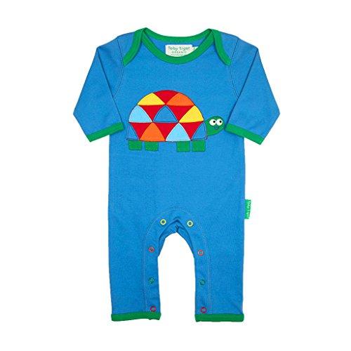Toby Tiger Tortoise Applique Sleepsuit - Combinaison - Bébé garçon, Bleu (Blue/Green/Red/Yellow/Orange), 2 mois