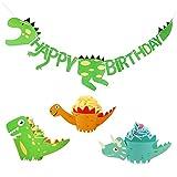 Queta 36 Stücke Dinosaurier Cupcake Wrapper mit Geburtstag Banner Dinosaurier