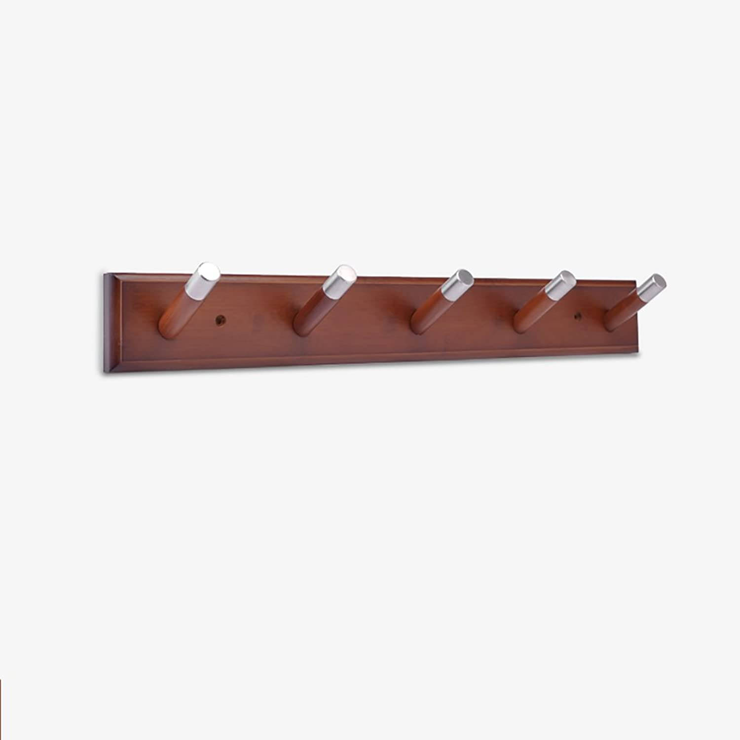 LFF- Coat Rack Clothes Hook Behind Door Hook Creative Wood Wall Hanger Bathroom Wall Hanger Wall-Mounted Coat Hook (color   Retro, Size   B)