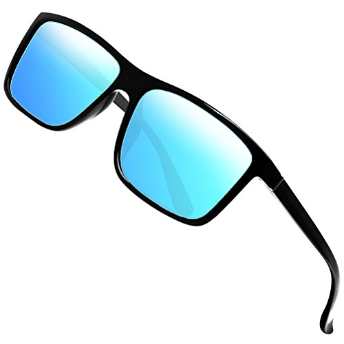 Polarized Sunglasses for Men Driving Mens Sunglasses Rectangular Vintage Sun Glasses For Men/Women Blue