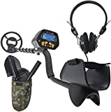Spagnolo Metaldetector MD3028 profesional, impermeable para metales, tesoros, pala ajustable, auriculares
