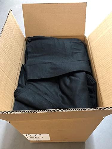 HERMKO 776 10kg Große Stoffreste aus 95% Modal - ähnlich wie Baumwolle, Farbe:schwarz