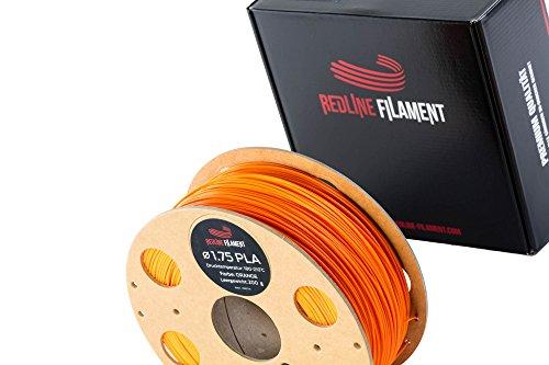 Filament 1.75 PLA 1 kg for your 3D Printer - Hard Cardboard Spool - Premium Quality from Holland (Orange)