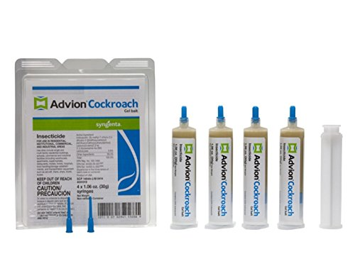 Advion Syngenta Cockroach Killer/Roach Gel Bait- with free Plunger and Tip!