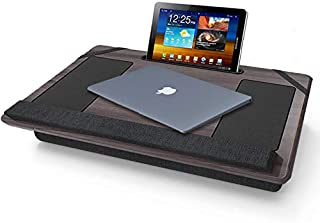 MOUNTIFY Lap Desk - Fits up to 17 inches Laptop | Built in Cushion Wrist Pad | Laptop Stand for Tablet | Pen & Phone Holder