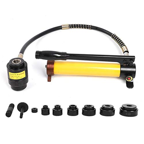 Perforadora de perforación, kit de destornillador de perforación de perforación de 6 troqueles, abridor de orificios, juego de perforadora de perforación hidráulica SYK-8B, kit de apertura