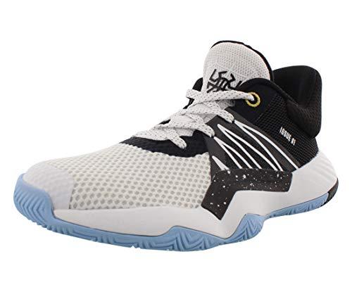 Adidas D.O.N. Issue #1 Basketballschuh für Kinder, Weiá (Cloud White/Core Black/Gold Metallic), 33 EU