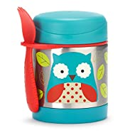 Insulated Food Jar and Spork Set For Baby and Toddlers, Stainless Steel, Owl