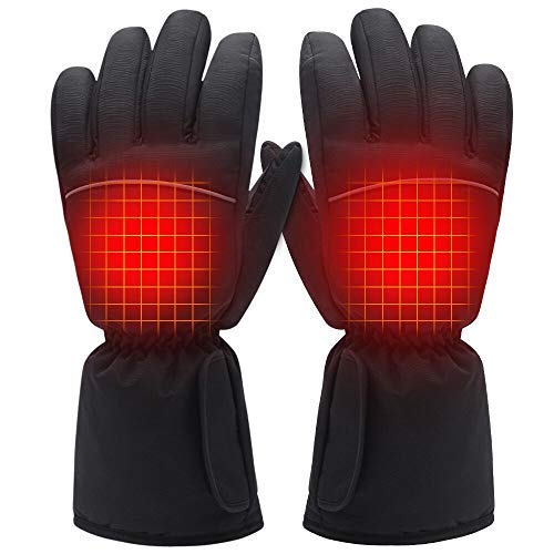 GLOBAL VASION Electric Rechargeable Heated Gloves Touchscreen Gloves for Women and Men (3.7V No Button)