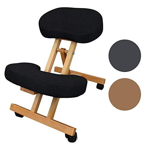 Vivezen  Tabouret, chaise ergonomique, siège assis genoux en bois pliable et réglable - 3 coloris...