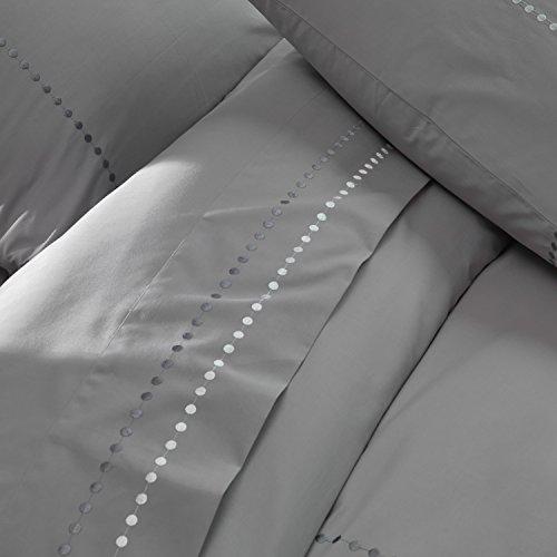 BLANC CERISE 600068 Drap Plat Délices Alignées 240 x 300 cm