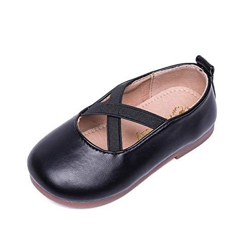 JOEupin Zapatos de vestir Mary Jane para niñas pequeñas, color Negro, talla 26 EU
