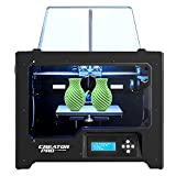 FlashForge Creator Pro 3D Printer, Dual Extruder 3D Printers,Fully Metal Frame, DIY FDM 3D Printer Kit with Optimized Build Platform, Works with ABS and PLA