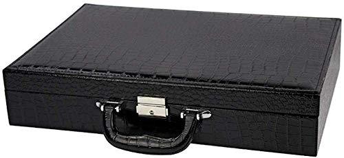 HJ Home Watch Box Scatola di immagazzinaggio dell'esposizione dei gioielli del contenitore di gioielli della valigia dell'orologio nero a 24 bit,Nero